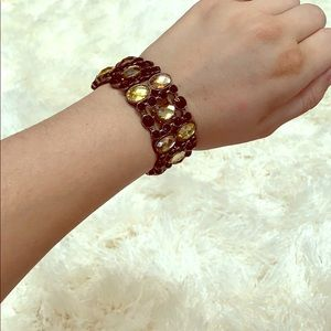 Gold and Copper Jeweled Bracelet
